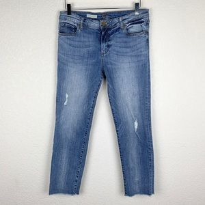 Kut From the Kloth Crop Straight Leg Ankle Jean 10